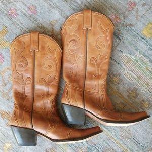 Stetson Ladies Handmade Fashion Boot - Antique Tan